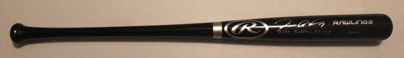 "TIM ANDERSON Autographed Black Full Size Wood Bat ""2019 Batting Champ"" Silver Ink JSA COA"
