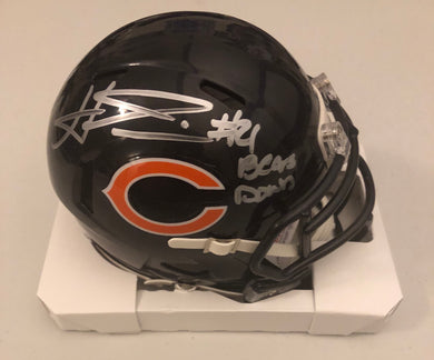 "Haha Clinton-Dix Autographed Chicago Bears Navy Speed Mini Helmet ""Bear Down"" JSA COA"