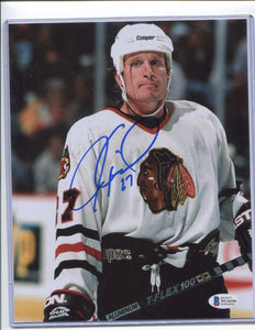 JEREMY ROENICK Autographed 8x10 Photo Chicago Blackhawks Beckett COA
