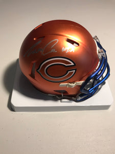TARIK COHEN Autographed Chicago Bears Alternative Blaze Mini Helmet JSA COA