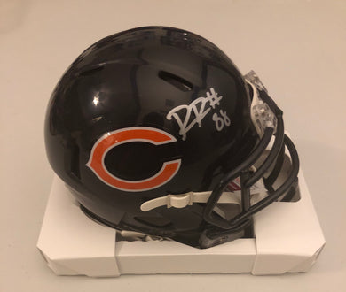 Riley Ridley Autographed Chicago Bears Navy Speed Mini Helmet JSA COA