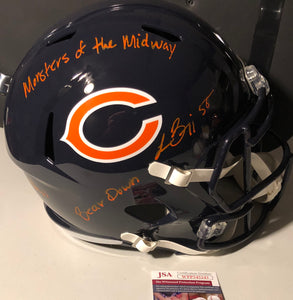 "LANCE BRIGGS Autographed Chicago Bears Navy Speed Replica Full Size Helmet ""Monsters of the Midway"" ""7x Pro Bowl"" ""Bear Down"" JSA COA"