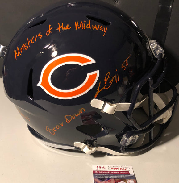 LANCE BRIGGS Autographed Chicago Bears Navy Speed Replica Full Size Helmet