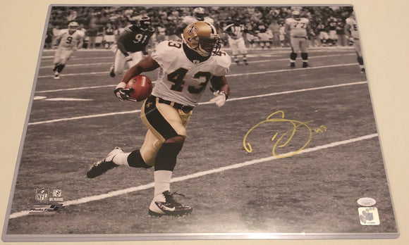 DARREN SPROLES Autographed 16x20 Photo New Orleans Saints Gold Ink JSA COA