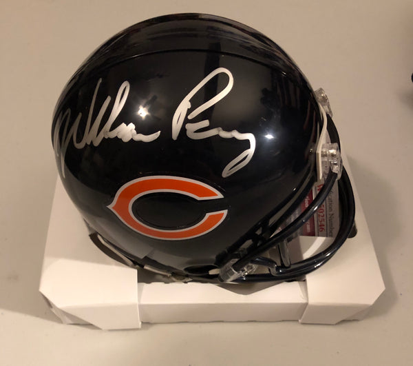 "William ""The Refrigerator"" Perry Autographed Chicago Bears Navy Mini Helmet JSA COA"