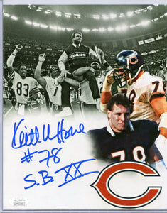 "KEITH VAN HORNE Autographed 8x10 Photo ""S.B. XX"" Chicago Bears JSA COA"