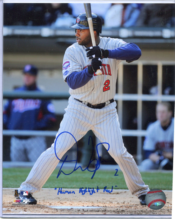 "DENARD SPAN Autographed 8x10 Photo #2 ""Human Highlight Reel"" Minnesota Twins"