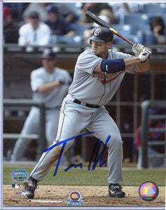 TRAVIS HAFNER Autographed 8x10 Photo Cleveland Indians Mounted Memories COA
