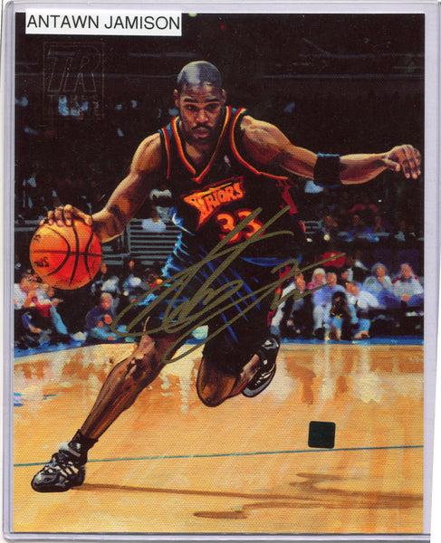 ANTAWN JAMISON Autographed 8x10 Photo Canvas Golden State Warriors Topps COA