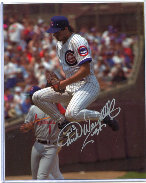 TURK WENDELL Autographed 8x10 Photo Chicago Cubs