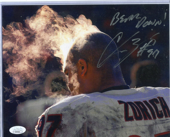 "CHRIS ZORICH Autographed 8x10 Photo #2 ""Bear Down"" Chicago Bears JSA COA"