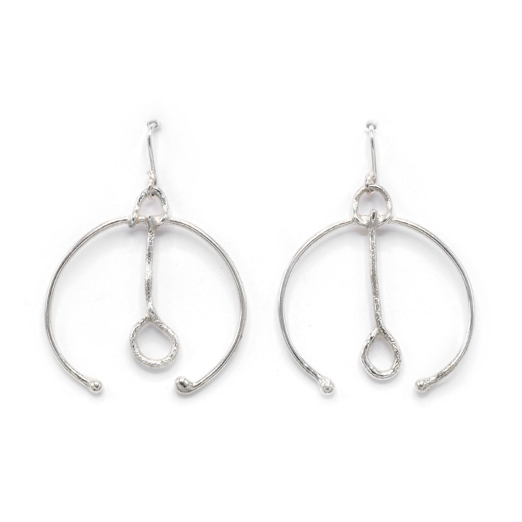 Iso Original Sterling Silver and Gold Plated Earrings for Women