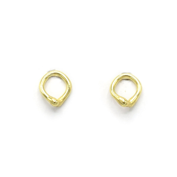 Quorra 18k Yellow Gold Stud Earrings