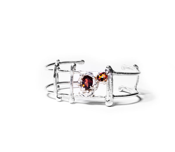 Empowerment Cuff - Polite Version, Garnet and Anastasia Topaz