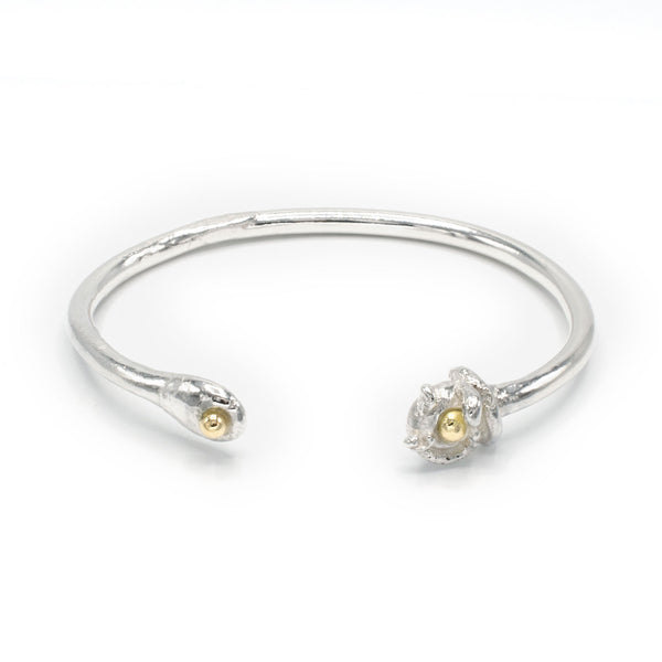 Iso Sterling Silver and 18k Yellow Gold Bangle