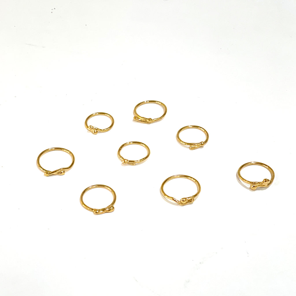 Iso Gold Vermeil over Sterling Silver Stackable Rings for Women