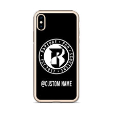 Load image into Gallery viewer, Rapture Custom Name iPhone Case (Black)