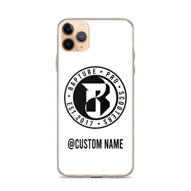 Rapture Custom Name iPhone Case (White)