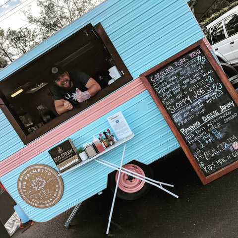 Our custom sign on The Palmetto Food Truck in Coffs Harbour.