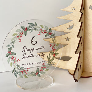 Christmas Countdown Freestanding Sign