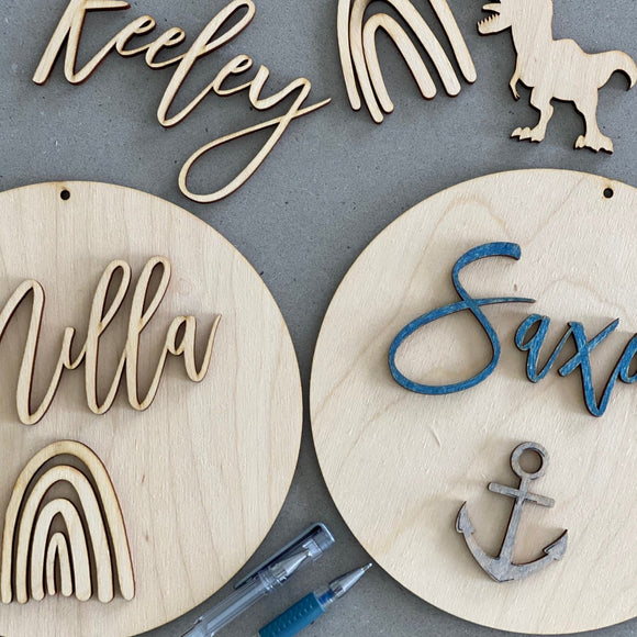 DIY Name Sign - Colour In