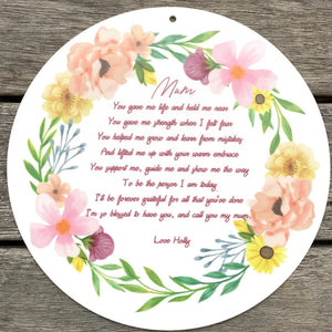 Mothers Day Poem Plaque