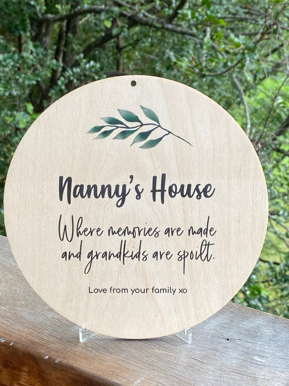 Timber Mothers Day Plaques