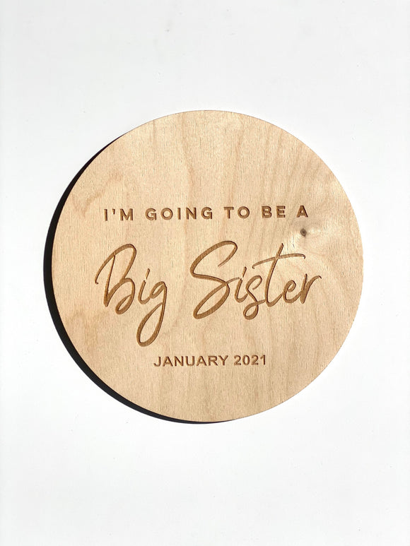 Announcement Plaque - Big Sister or Big Brother