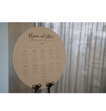 Round Wedding Seating Sign - 3D Heading