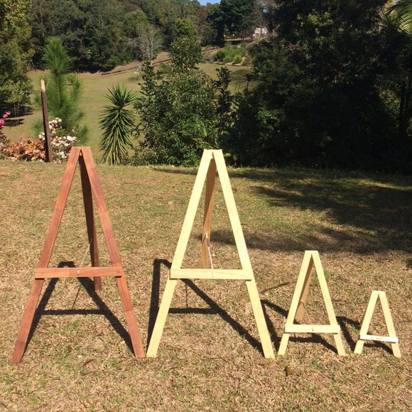 Timber easels and Metal Sign Stands