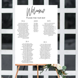Custom Printed Seating Chart