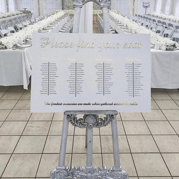 Seating Chart - Custom Printed with 3D Heading