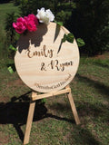 Custom Round Engraved Timber Sign