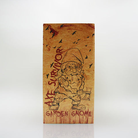 Zombie Survivor Garden Gnome Box Back