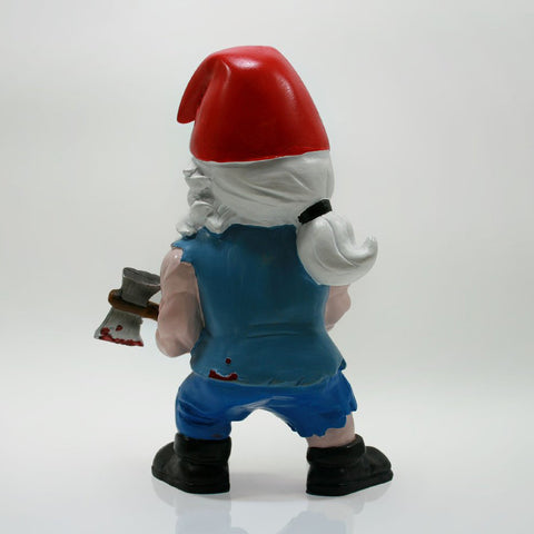 Zombie Survivor Garden Gnome Back