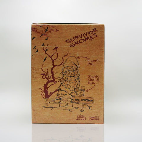 Zombie Survivor Garden Gnome Box Front