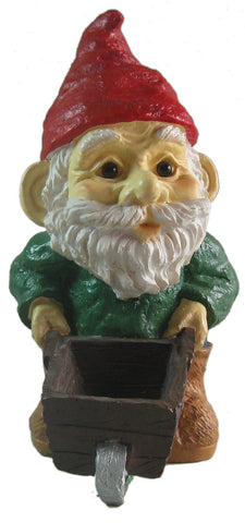 Wheelbarrow Garden Gnome