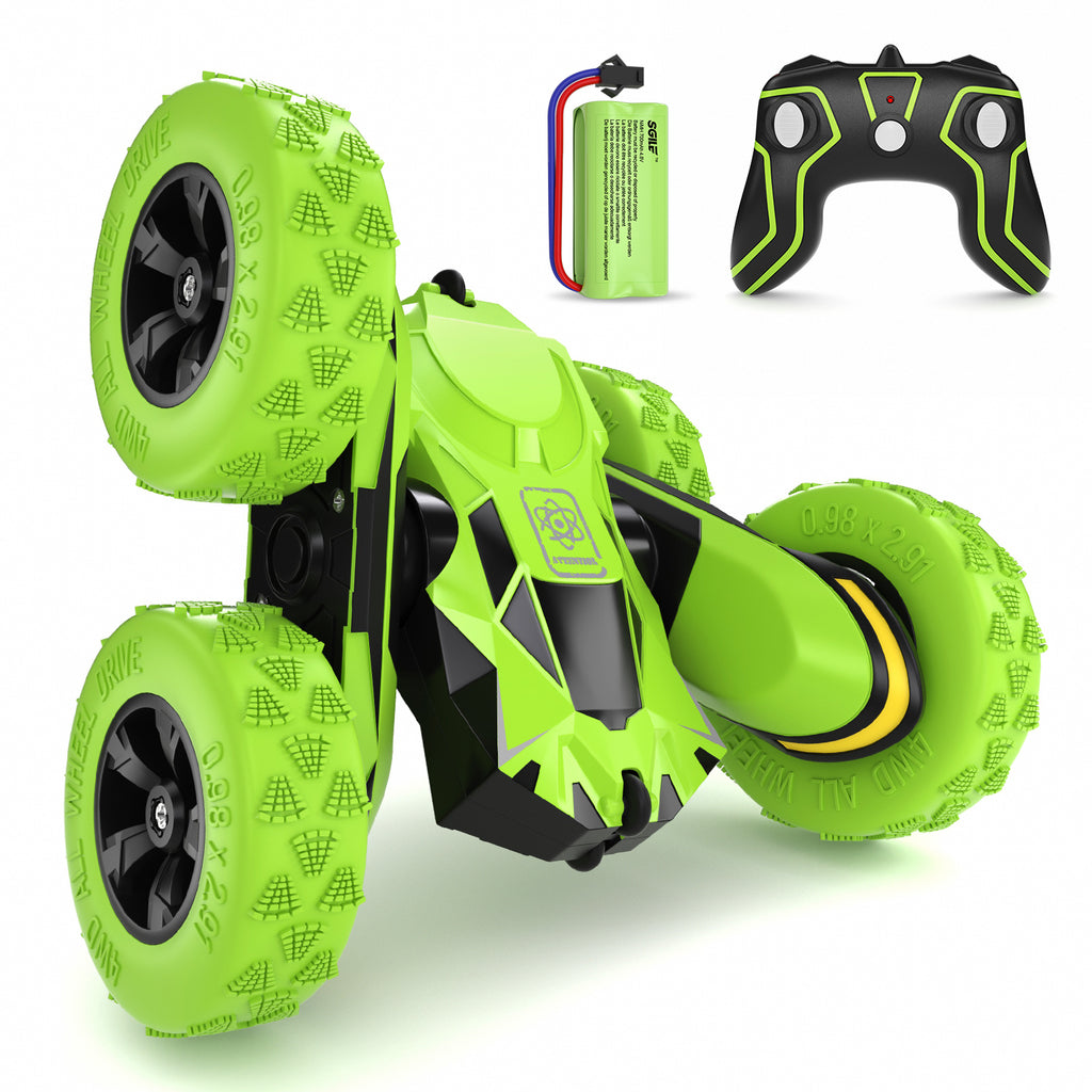 SGILE 4WD RC Stunt Car, Green