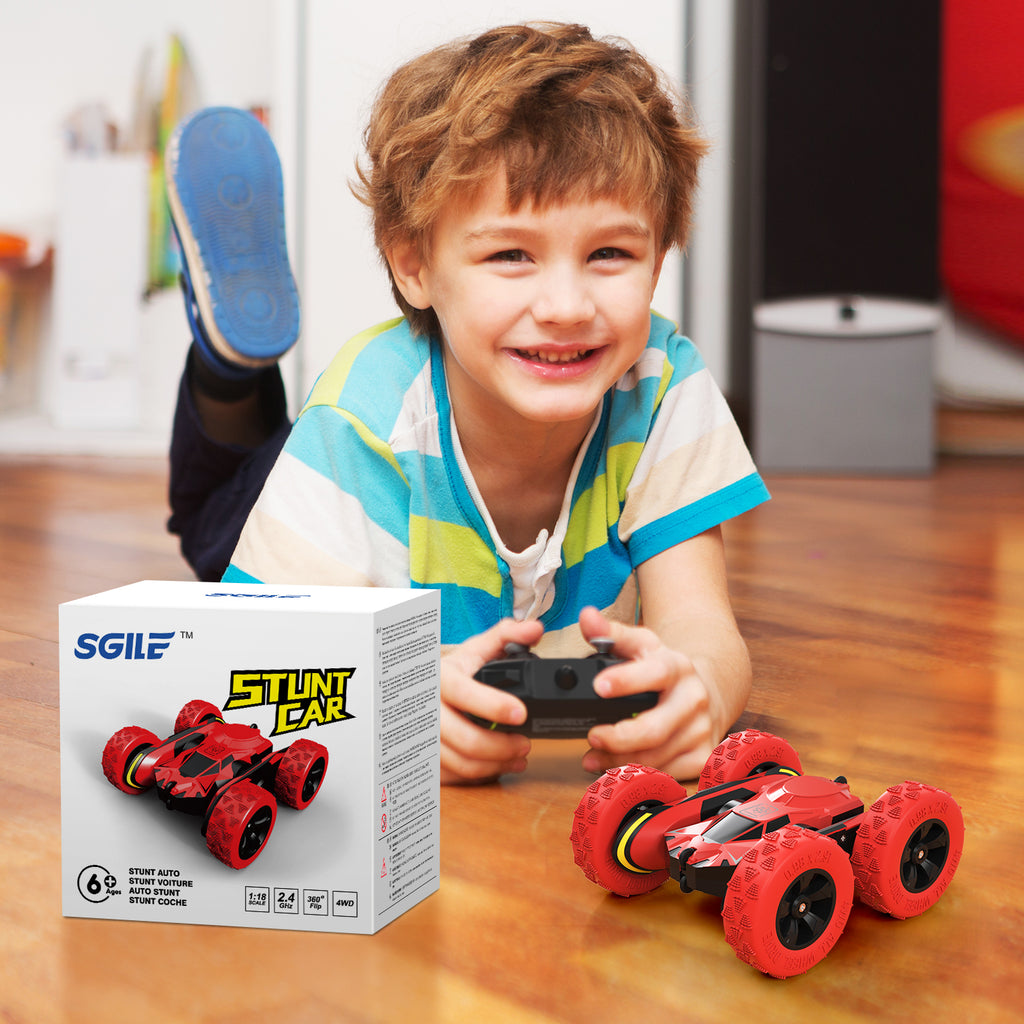 SGILE 4WD RC Stunt Car, Red