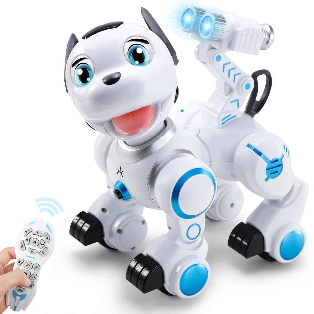 SGILE Robot Dog Toy for Xmas Gift, Intelligent Programmable Doggie Toy for Kids