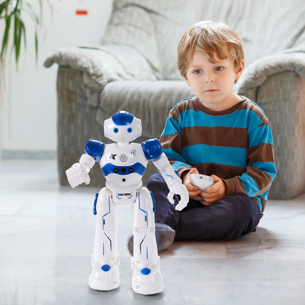 SGILE RC Robot Toy, Programmable Intelligent , Blue