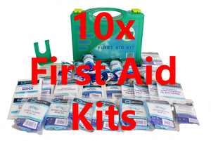 10x Small Workplace BS8599-1 First Aid Kits