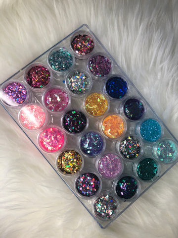24 Piece Ultimate Glitter Set
