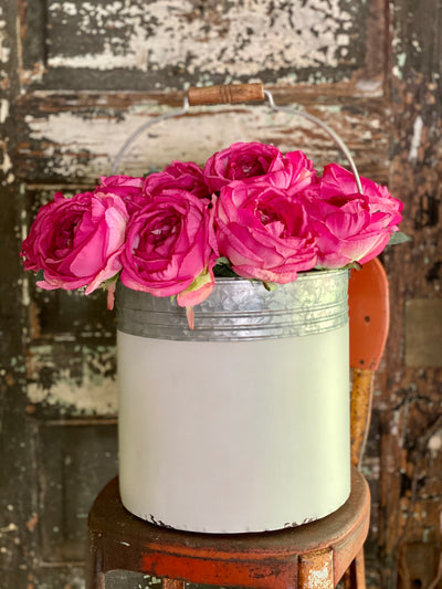 Faux Pink Cabbage Rose