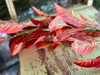 Faux Fall Croton Spray