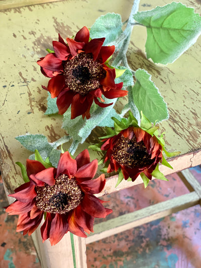 Faux Sunflower Spray