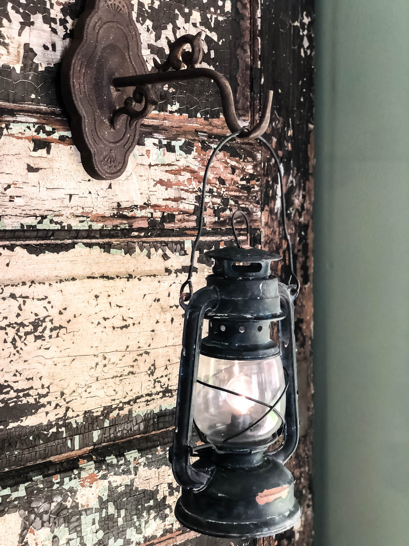 Railroad LED Metal Lantern