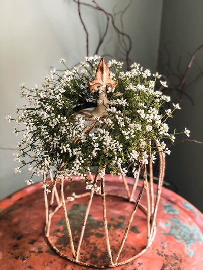 White Astilbe Candle Ring