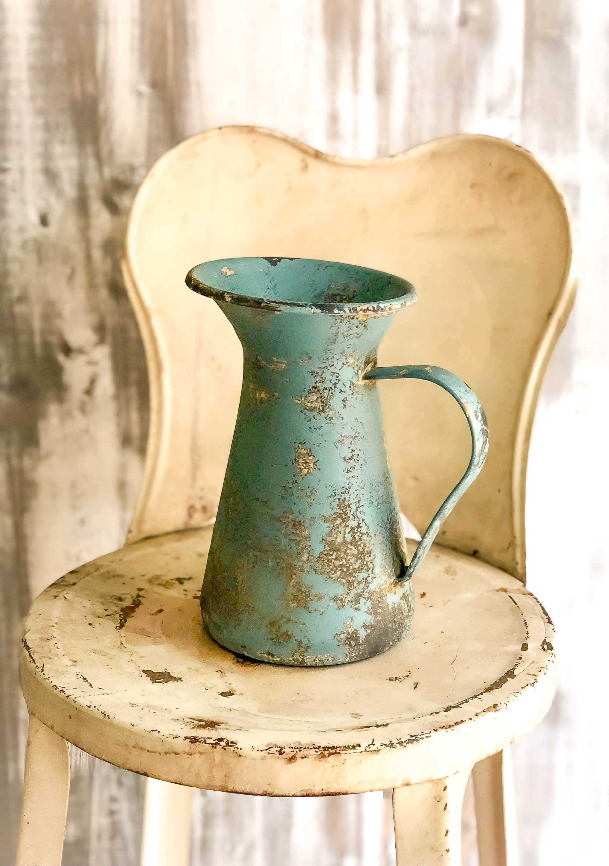 The Becca Distressed Farmhouse Metal Pitcher