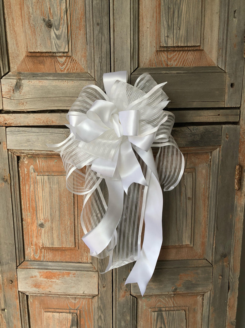 The Chasity White Wedding Bow